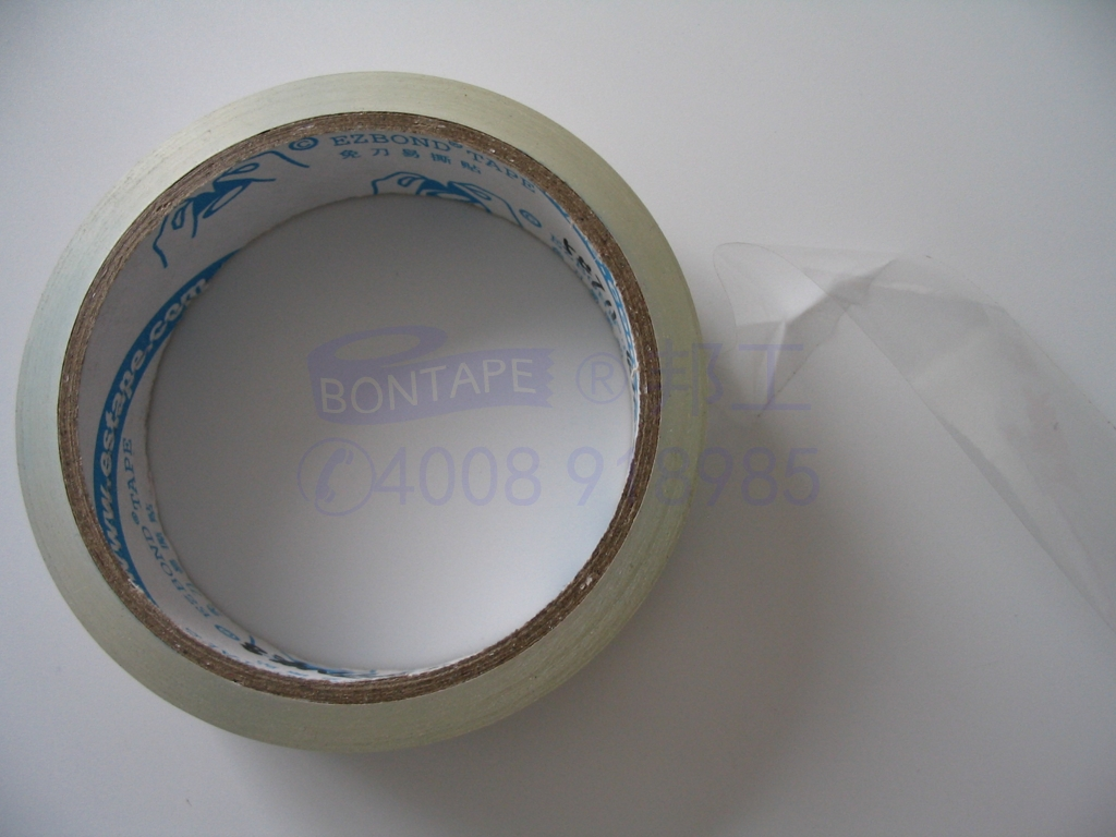 hand tearing sellotape, ultra clear tape, tearable plastic film tape