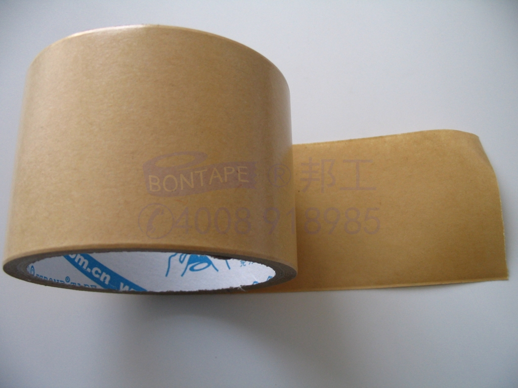 high temperature kraft tape, environmentally friendly tape,  hand tearing tape, kraft paper adhesive tape with non-sticky, brown wrapping paper, craft tape